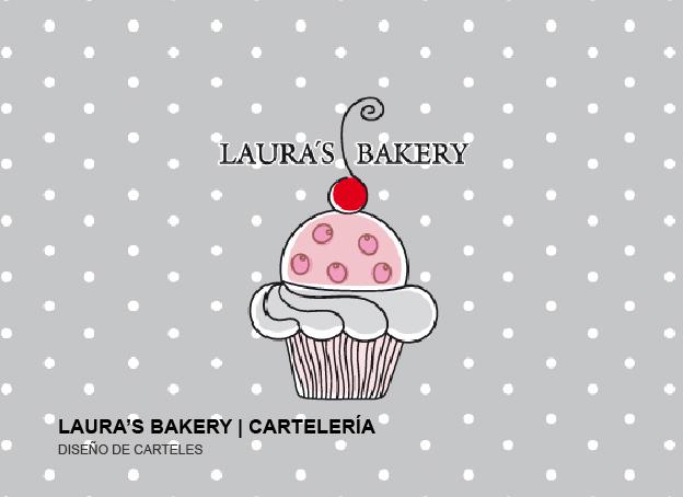 Diseño de cartelería | LAURA´S BAKERY
